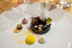 Plat créatif de dessert Image stock