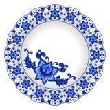 Plat décoratif de porcelaine Photos libres de droits