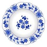 Plat décoratif de porcelaine Photo libre de droits