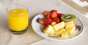 Plat délicieux de fruit Photos libres de droits