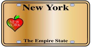 Plat d'état d'empire de New York illustration libre de droits