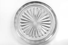 Plat d'étoile de verre cristal sur le fond d'isolat Photographie stock libre de droits
