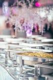 Plat d'événement de mariage de restauration photographie stock libre de droits