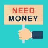 Plat d'argent du besoin Images libres de droits