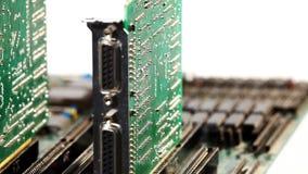 Plat d'ordinateur avec des cartes d'extension banque de vidéos