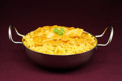 Plat de balti de Korma de poulet Photo stock