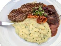 Plat de bifteck Photo stock