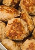 Plat de côtelette de rissoles de viande Image libre de droits