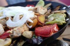 Plat de chiche-kebab de Saj Image stock