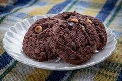 Plat de chocolat Chip Cookies Photo libre de droits
