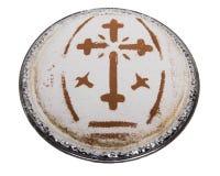 Plat de Coliva avec la croix photo libre de droits