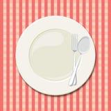Plat de dîner illustration stock