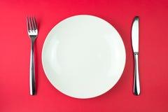 Plat de dîner photos stock