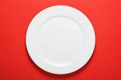 Plat de dîner blanc images libres de droits
