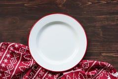 Plat de dîner de Noël photographie stock