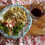 Plat de dîner végétarien photographie stock libre de droits