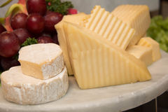 Plat de fromage photo stock