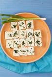 Plat de fromage au-dessus de vue Images libres de droits