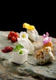 Plat de fromage dinant fin Image libre de droits