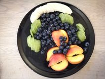 Plat de fruit Image stock