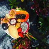 Plat de fruit photos libres de droits