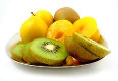 Plat de fruit Images libres de droits