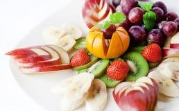 Plat de fruit Photographie stock