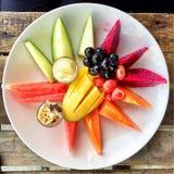 Plat de fruits Photographie stock