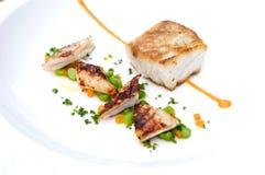 Plat de gourmet de fruits de mer photographie stock libre de droits