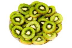 Plat de kiwi Images libres de droits