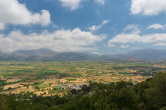 Platô de Lasithi - montanhas de Grécia Foto de Stock Royalty Free