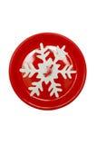 Plat de Noël avec le flocon de neige Photographie stock