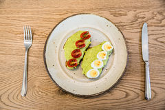 Plat de nourriture de petit déjeuner Photos stock