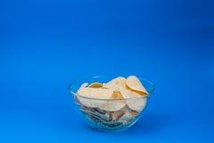 Plat de nourriture malsaine de frites Photo stock