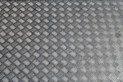 Plat de plancher en acier argenté de couleur image libre de droits