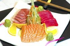 Plat de poisson cru japonais Photo libre de droits