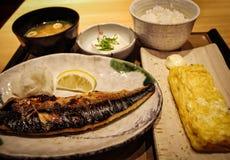Plat de poisson japonais photographie stock