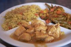 Plat de poulet indien image libre de droits