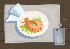 Plat de poulpe Image libre de droits