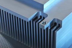 Plat de refroidissement en aluminium Photo stock