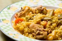 Plat de riz avec le lapin photos stock