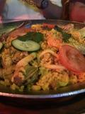 Plat de riz espagnol photo libre de droits