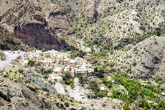Platô de Saiq da vila de Omã Fotografia de Stock