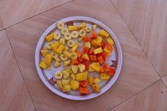 Plat de salade Image libre de droits
