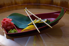 Plat de sashimi Photographie stock
