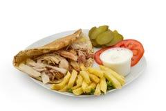 Plat de Shawarma de chiche-kebab de poulet photos libres de droits