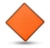 Plat de signe vide jaune photographie stock libre de droits