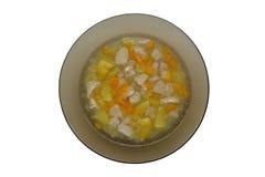 Plat de soupe Photo stock