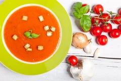 Plat de soupe chaude à potiron d'automne Photo stock