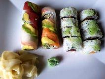 Plat de sushi Images libres de droits
